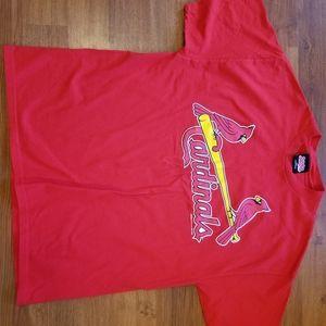 Vtg Stitches St Louis Cardinals T Shirt SS